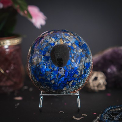 Lapis lazuli & apache tear-...