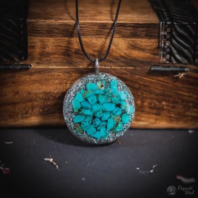 Turquoise - orgonite round...
