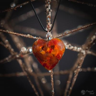 Carneol - orgonite heart...