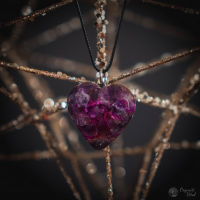 Amethyst - Orgonite heart...