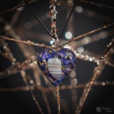 Agate - orgonite Heart Pendant