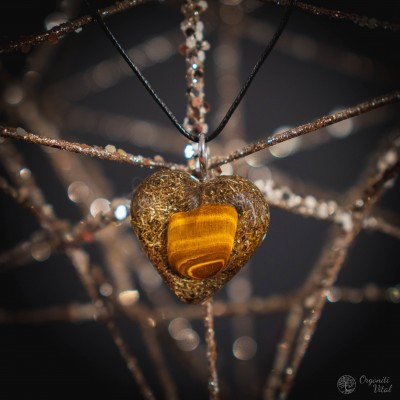 Tiger eye - Orgonite heart...