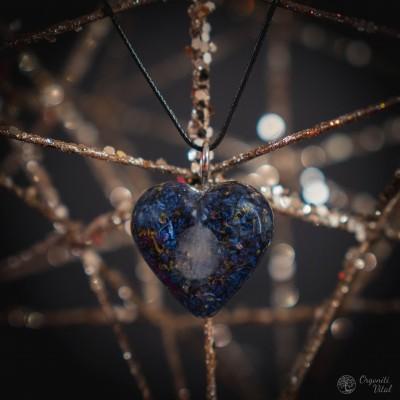 Moonstone - orgonite heart...