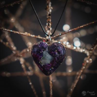 Aquamarine - orgonite heart...