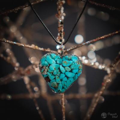 Turquoise - orgonite heart...