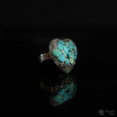 Turquoise - orgonite heart...