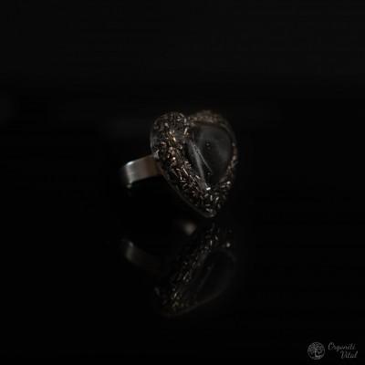 Hematite -  orgonite heart...