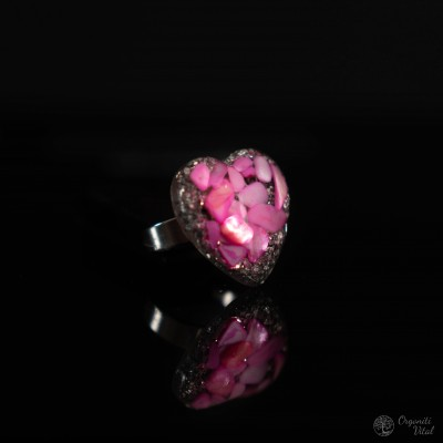 Shells - Orgonite heart ring