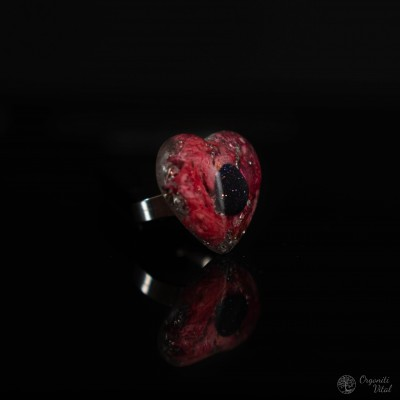 Bluestone- orgonite heart ring