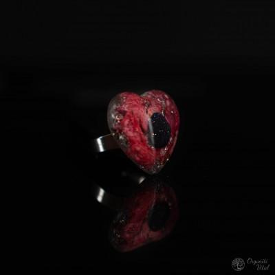 Bluestone- orgonite heart ring