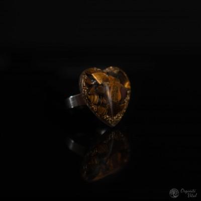 Tiger eye - Orgonite heart...