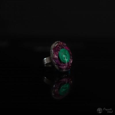 Malahit - orgonitni prstan...