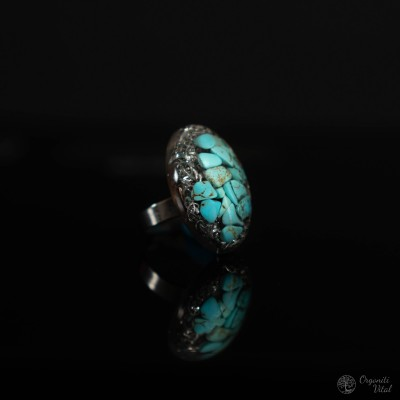 Turquoise - orgonite oval ring