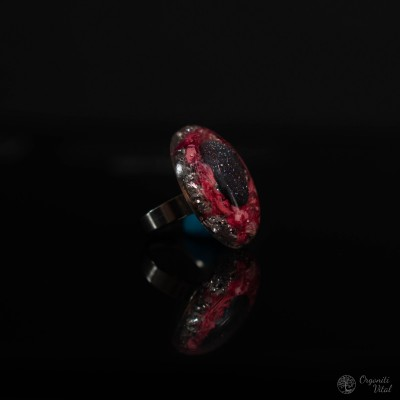 Bluestone- orgonite oval ring