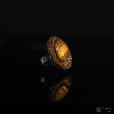 Tiger eye - Orgonite oval ring