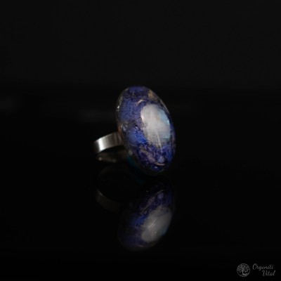 Moonstone - orgonite oval ring