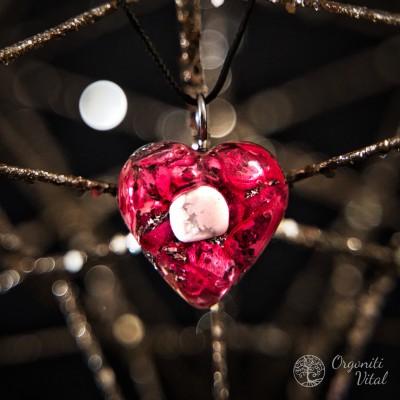 Magnesite - orgonite heart...