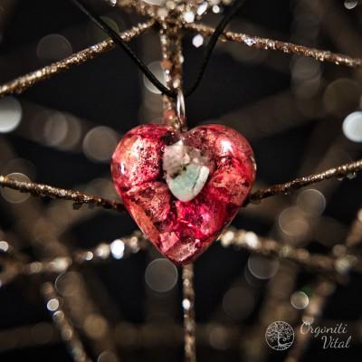 Larimar - orgonite heart...