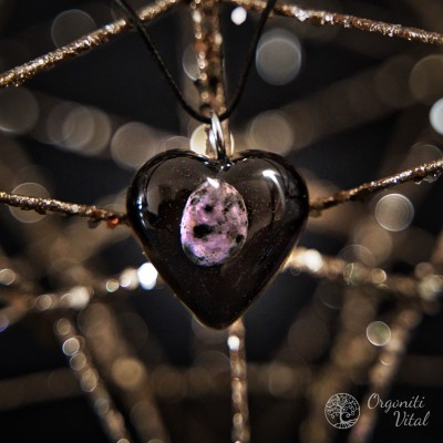 Charoite  -  orgonite heart...