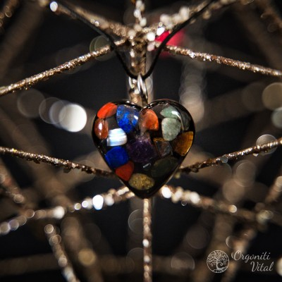 7 chakras - Orgonite heart...