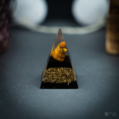 Tiger eye - Orgonite Pyramid