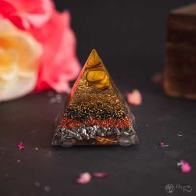 Tiger eye - Orgonite Pyramid