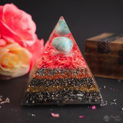 Larimar - Orgonite Pyramid